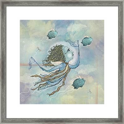 Flying Piggies Framed Print by Dennis Wunsch