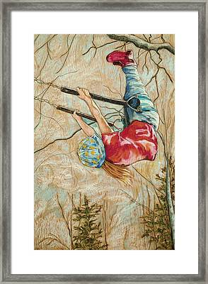 Flying So High Framed Print by Christine Marek-Matejka