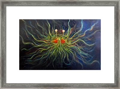 Flying Spaghetti Monster Framed Print by Alizey Khan