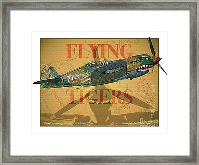 Flying Tigers Framed Print by Kenneth De Tore