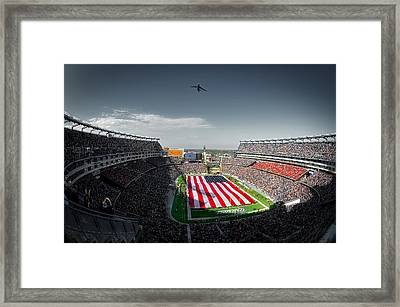 Flyover At Gillette Stadium Framed Print by Mountain Dreams