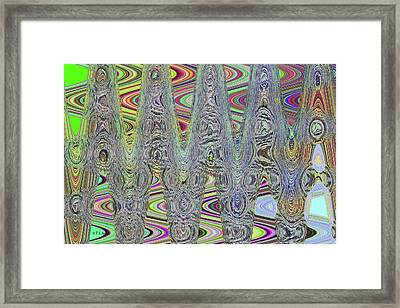 Foam On The Beach Abstract Framed Print by Tom Janca