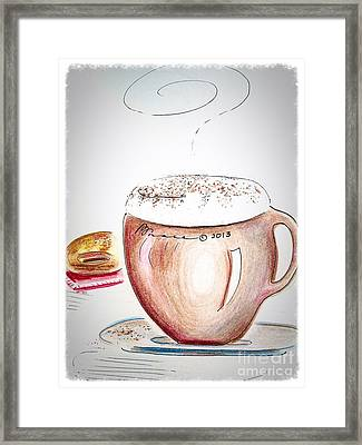 Foamy Cappuccino  Framed Print by Barbara Chase