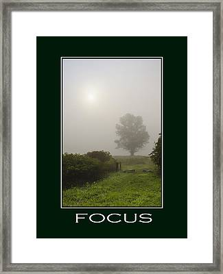 Focus Inspirational Poster Art Framed Print by Christina Rollo