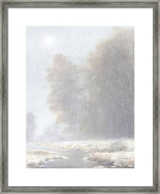 Fog And Frost Framed Print by Ken Johnston