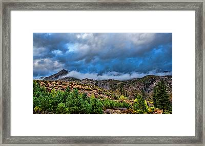 Fog And Stone Framed Print by Ronald William Horne
