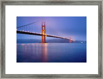 Fog City Bridge Framed Print by Jonathan Fleming