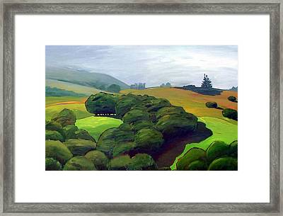 Fog Comes In Framed Print by Gary Coleman