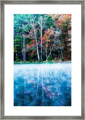 Fog On The Lake Framed Print by Parker Cunningham