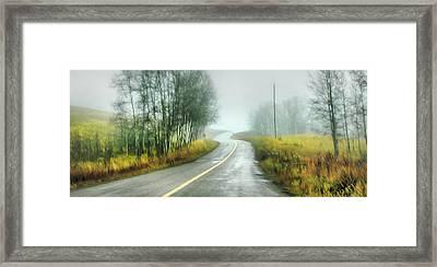 Fog Up By Pinantan Lake Framed Print by Theresa Tahara