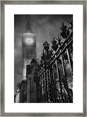Foggy Big Ben Framed Print by Thomas Zimmerman