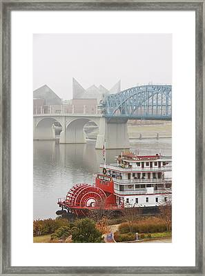 Foggy Chattanooga Framed Print by Tom and Pat Cory