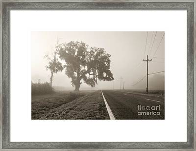 Foggy Highway Framed Print by Scott Pellegrin