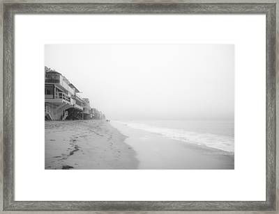 foggy Malibu Beach  Framed Print by Ralf Kaiser