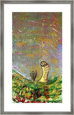 Foil Silo Framed Print by Jame Hayes