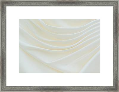 Folded Fabric Waves Framed Print by Meirion Matthias