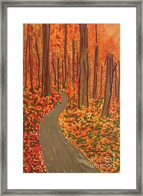 Foliage Drive  Framed Print by Ishy Christine Degyansky