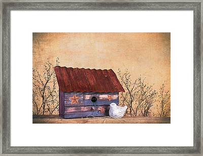 Folk Art Birdhouse Still Life Framed Print by Tom Mc Nemar