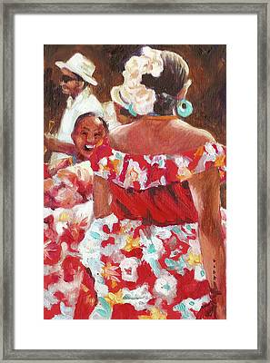 Folklorica I Framed Print by Monica Linville