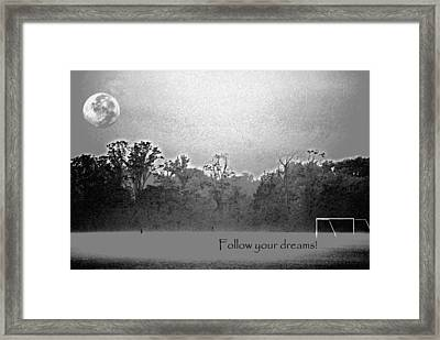 Follow Your Dreams Framed Print by Peter  McIntosh
