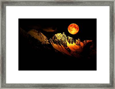 Follow Your Inner Moonlight Framed Print by Michele Cornelius