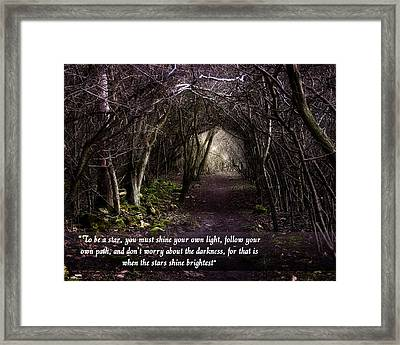 Follow Your Own Path Framed Print by Vicki Field