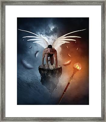 Following The  Lights Framed Print by Mark Ashkenazi
