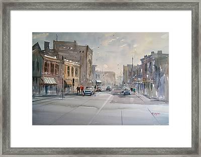 Fond Du Lac - Main Street Framed Print by Ryan Radke