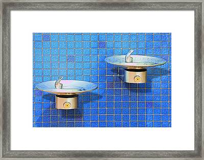Fontaine Bleue Framed Print by Paul Wear