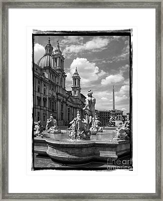 Fontana Del Moro.rome.italy Framed Print by Jennie Breeze