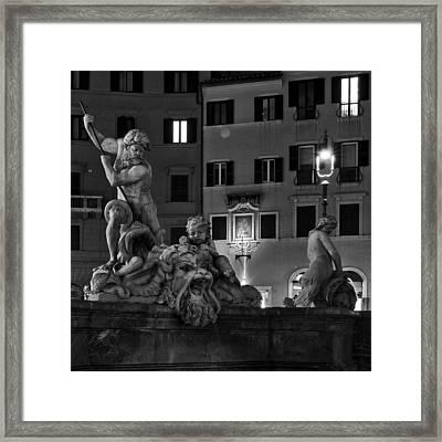 Fontana Del Nettuno Framed Print by Fabrizio Troiani