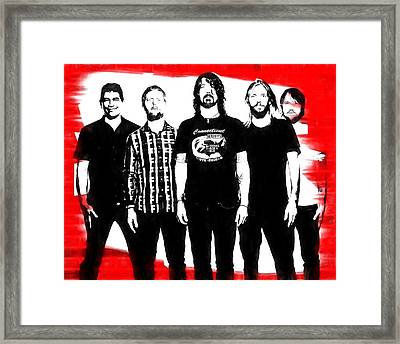 Foo Fighters Graphic Tribute Framed Print by Dan Sproul