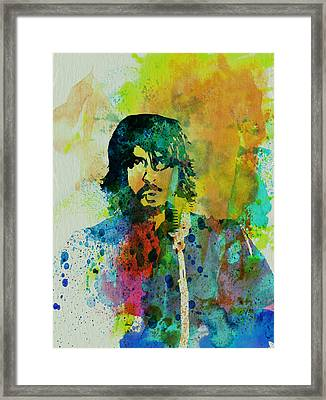 Foo Fighters Framed Print by Naxart Studio