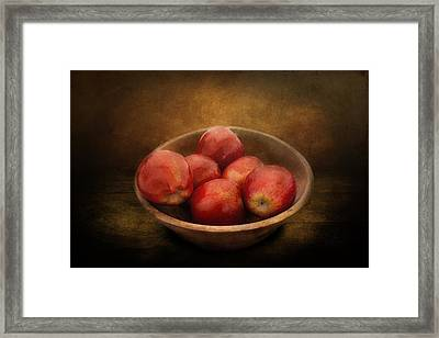 Food - Apples - A Bowl Of Apples  Framed Print by Mike Savad