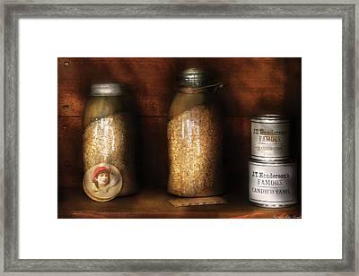 Food - Corn Yams And Oatmeal Framed Print by Mike Savad