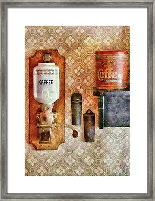 Food - Let's Have Some Kaffee Framed Print by Mike Savad