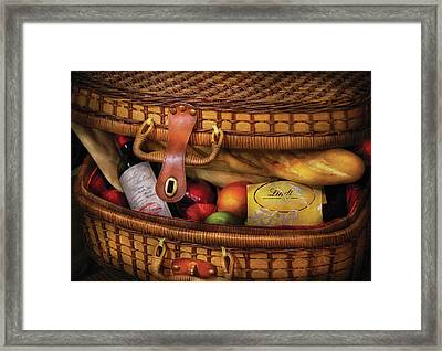 Food - Let's Picnic Framed Print by Mike Savad