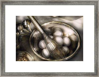 Food - Mix In The Eggs Framed Print by Mike Savad
