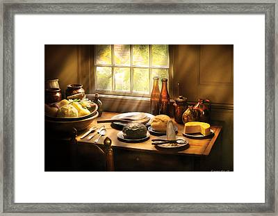Food - Ready For Guests Framed Print by Mike Savad