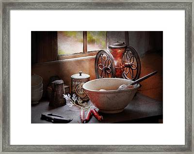 Food - The Morning Chores Framed Print by Mike Savad