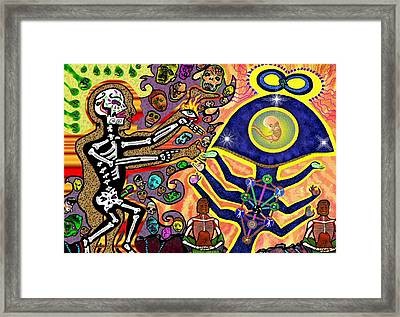 Food Of The Gods Framed Print by Myztico Campo