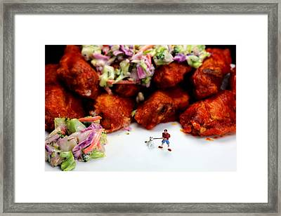 Food Temptation Framed Print by Paul Ge