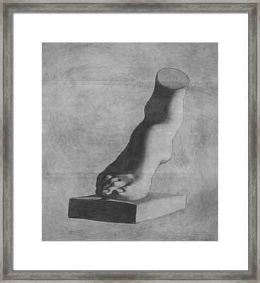 Foot Of The Medici Venus Framed Print by Stevie The floating artist