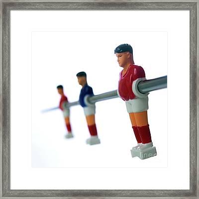 Football Figurines Framed Print by Bernard Jaubert