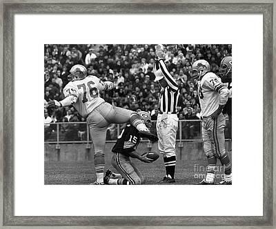 Football Game, 1965 Framed Print by Granger