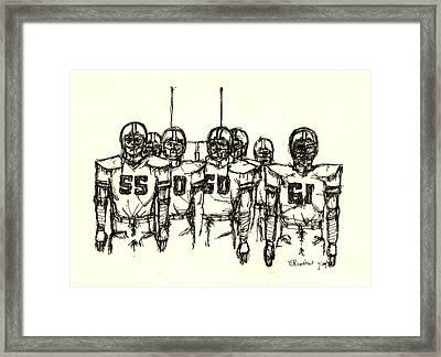 Football Nasties Framed Print by Brett H Runion