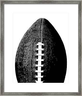 Football Poster Black White Framed Print by Flo Karp