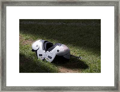 Football Shoulder Pads Framed Print by Tom Mc Nemar