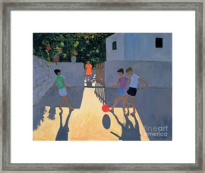 Footballers Framed Print by Andrew Macara