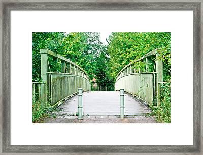Footbridge Framed Print by Tom Gowanlock